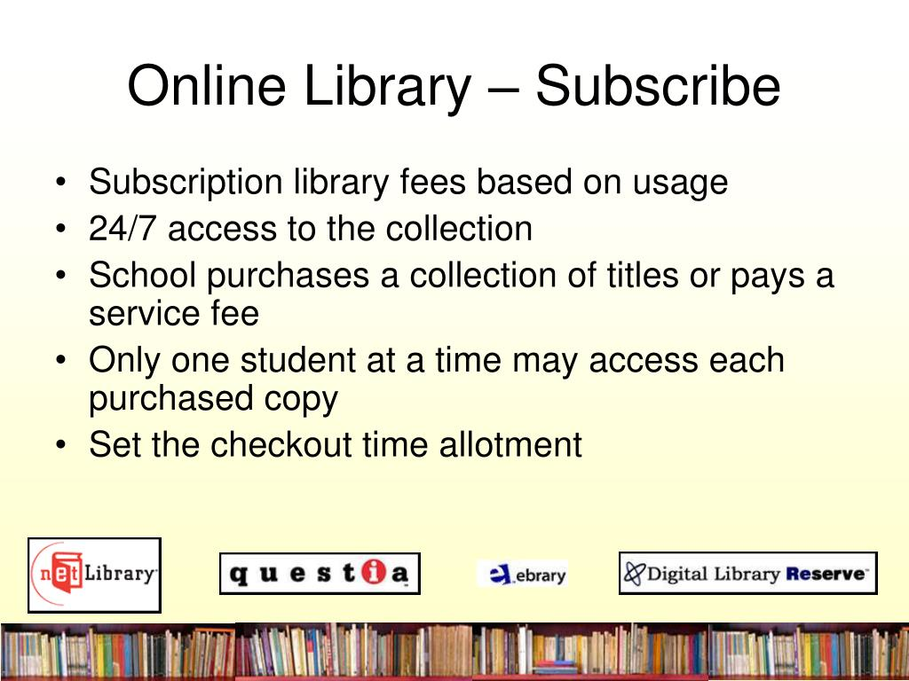 Online Library – Subscribe
