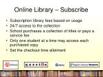 online library subscribe