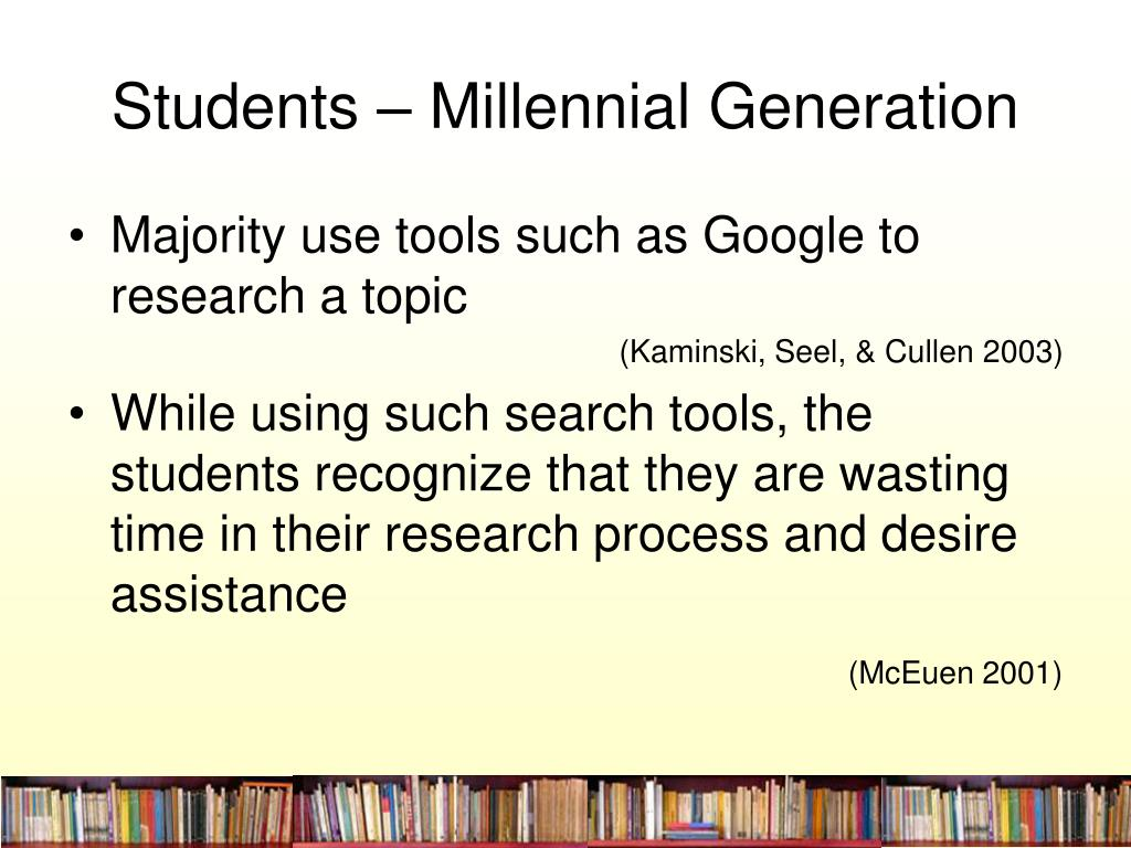 Students – Millennial Generation