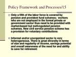 policy framework and processes 15