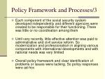policy framework and processes 3