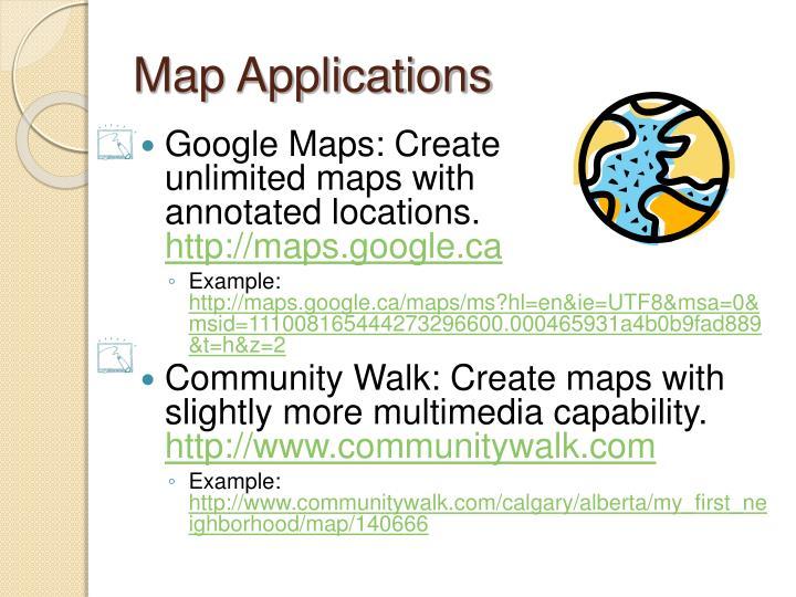 Map Applications