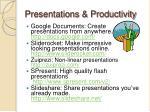 presentations productivity