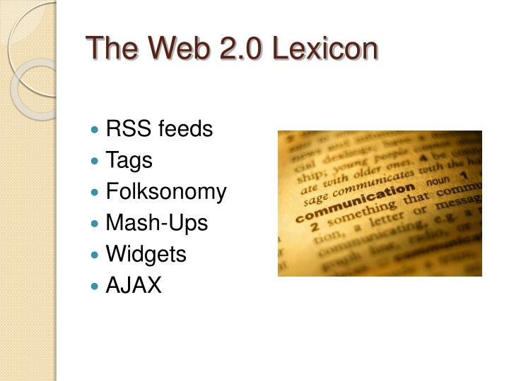 The Web 2.0 Lexicon