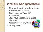 what are web applications
