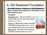 6 old testament foundation