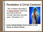 7 revelation is christ centered