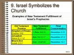 9 israel symbolizes the church36