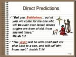 direct predictions