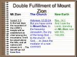double fulfillment of mount zion53