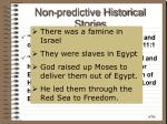 non predictive historical stories
