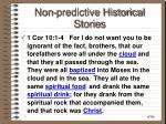non predictive historical stories32