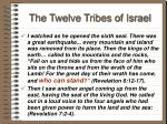 the twelve tribes of israel