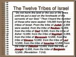 the twelve tribes of israel59