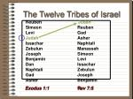 the twelve tribes of israel61