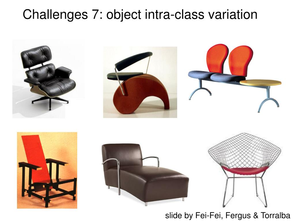 Challenges 7: object intra-class variation