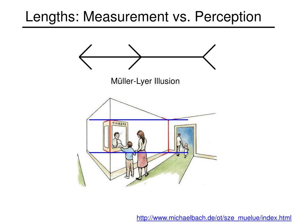 Lengths: Measurement vs. Perception