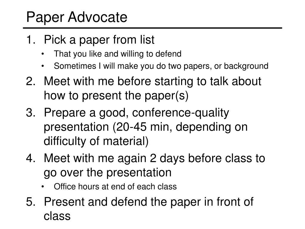 Paper Advocate