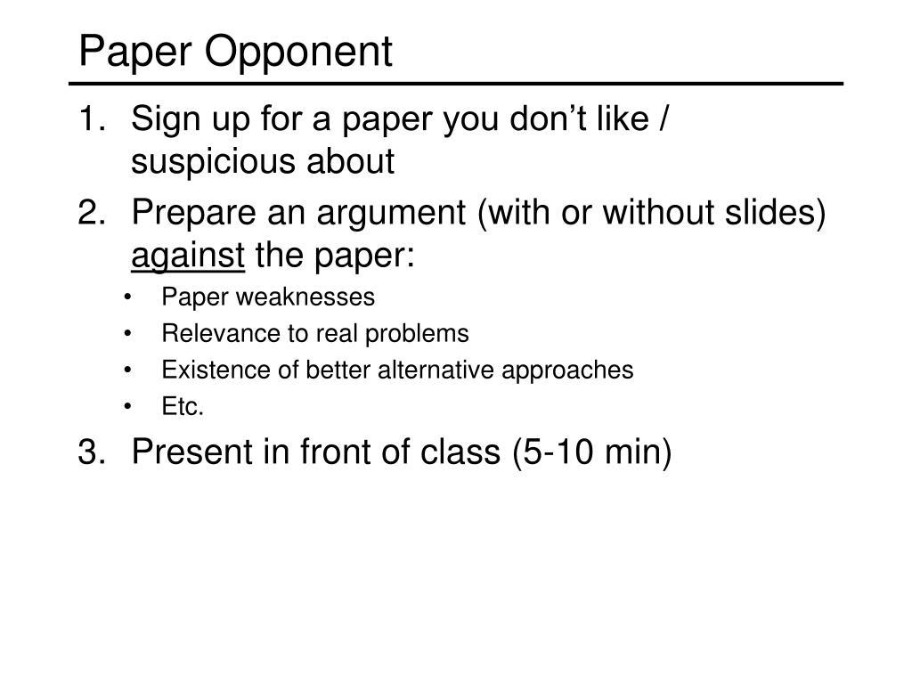 Paper Opponent
