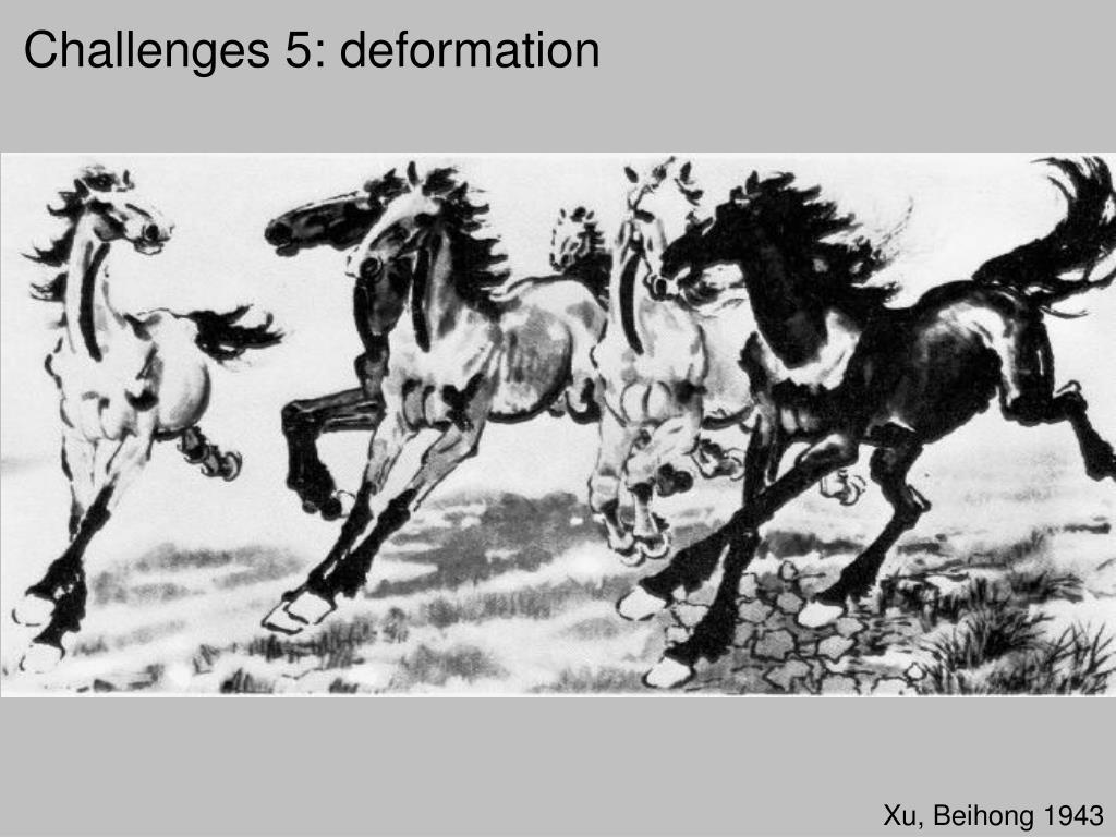 Challenges 5: deformation