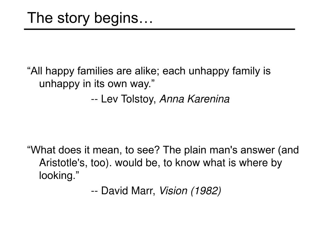 The story begins…