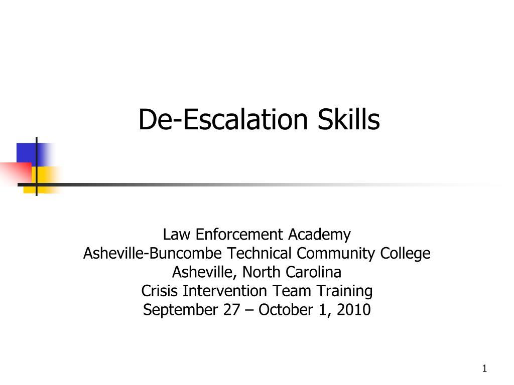 de escalation skills l.