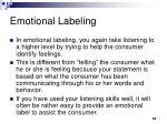 emotional labeling