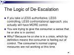 the logic of de escalation
