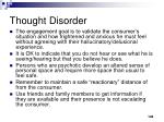 thought disorder108