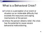 what is a behavioral crisis
