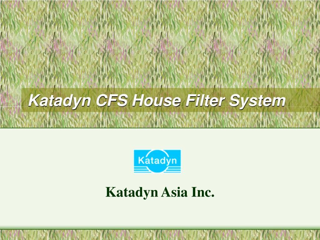 katadyn cfs house filter system l.