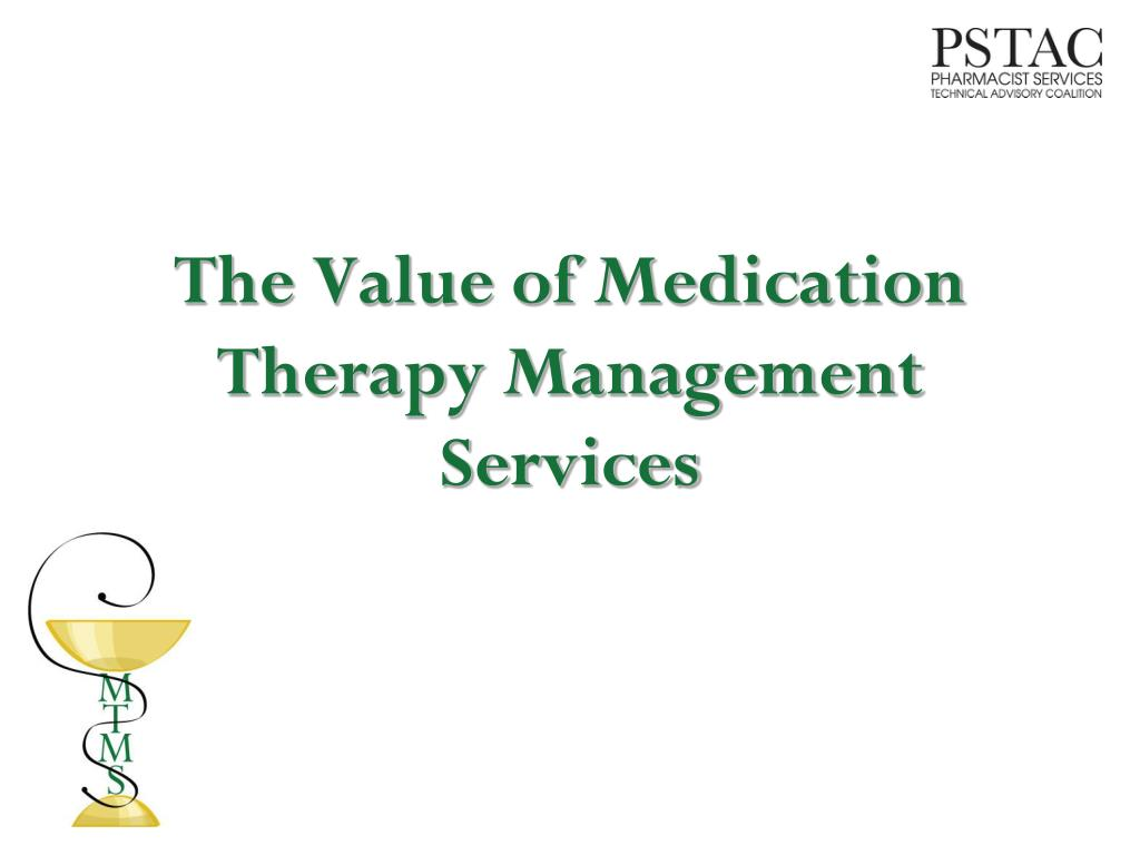 the value of medication therapy management services l.