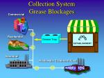collection system grease blockages