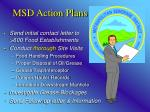 msd action plans