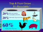 trap fryer grease it s recyclable