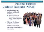 national business coalition on health nbch