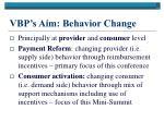 vbp s aim behavior change