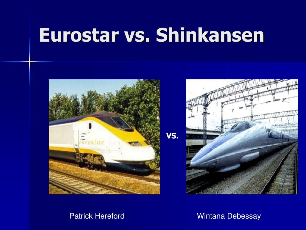 eurostar vs shinkansen l.