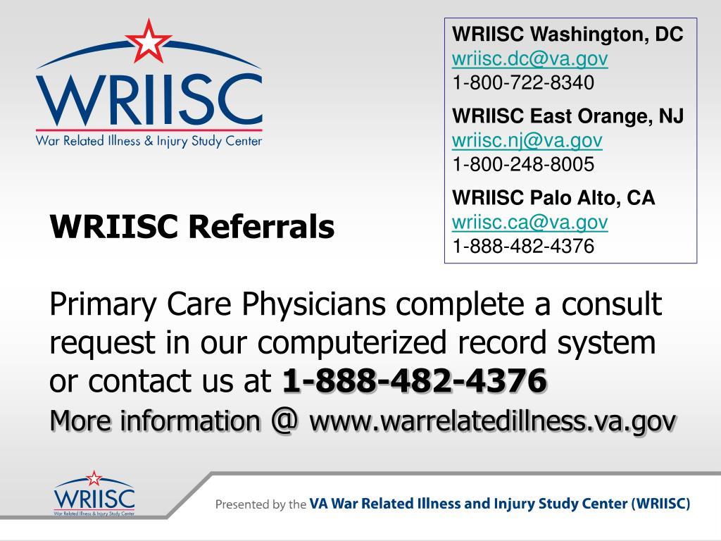WRIISC Referrals
