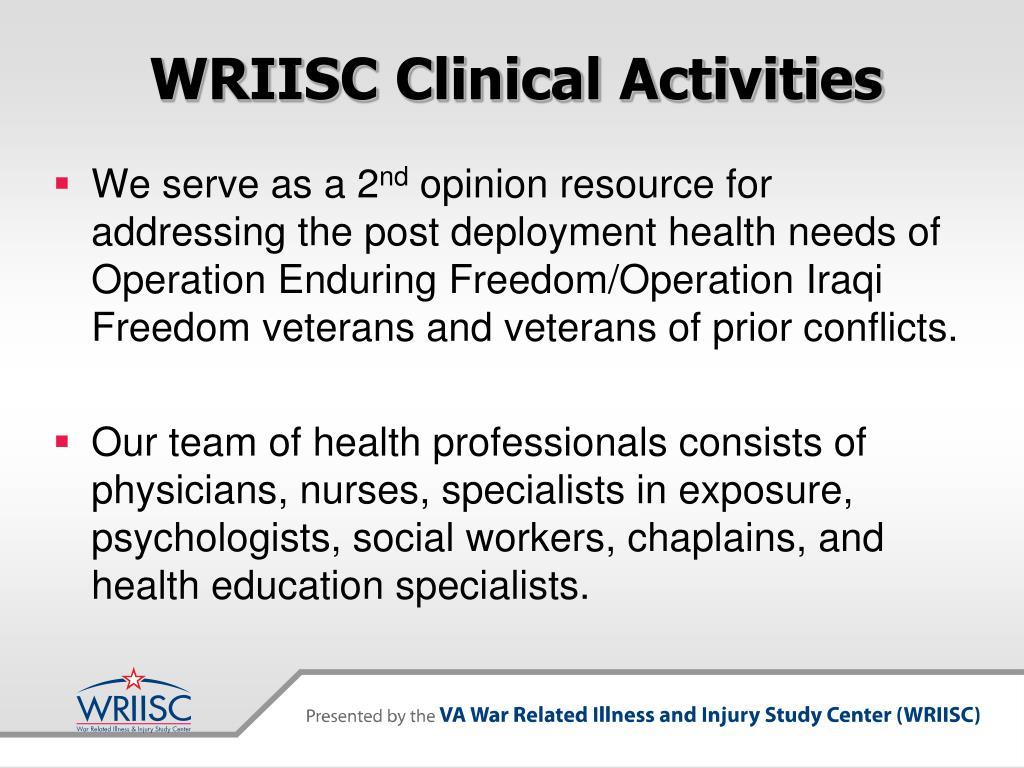 WRIISC Clinical Activities