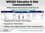 wriisc education risk communication17