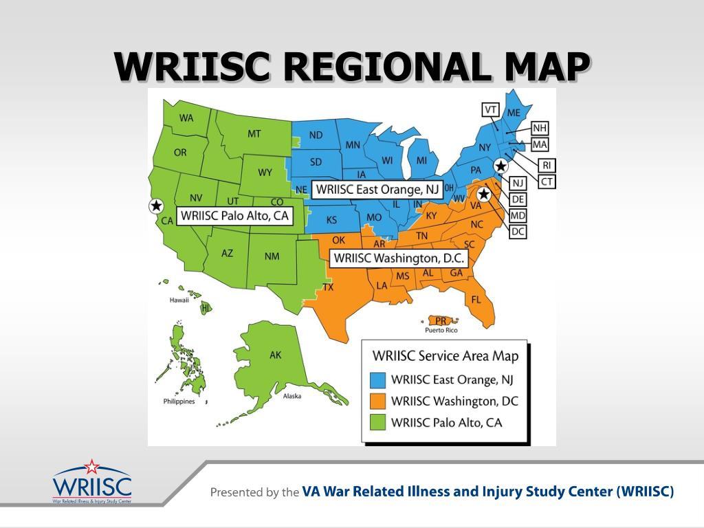 WRIISC REGIONAL MAP