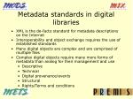 metadata standards in digital libraries