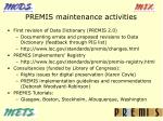 premis maintenance activities
