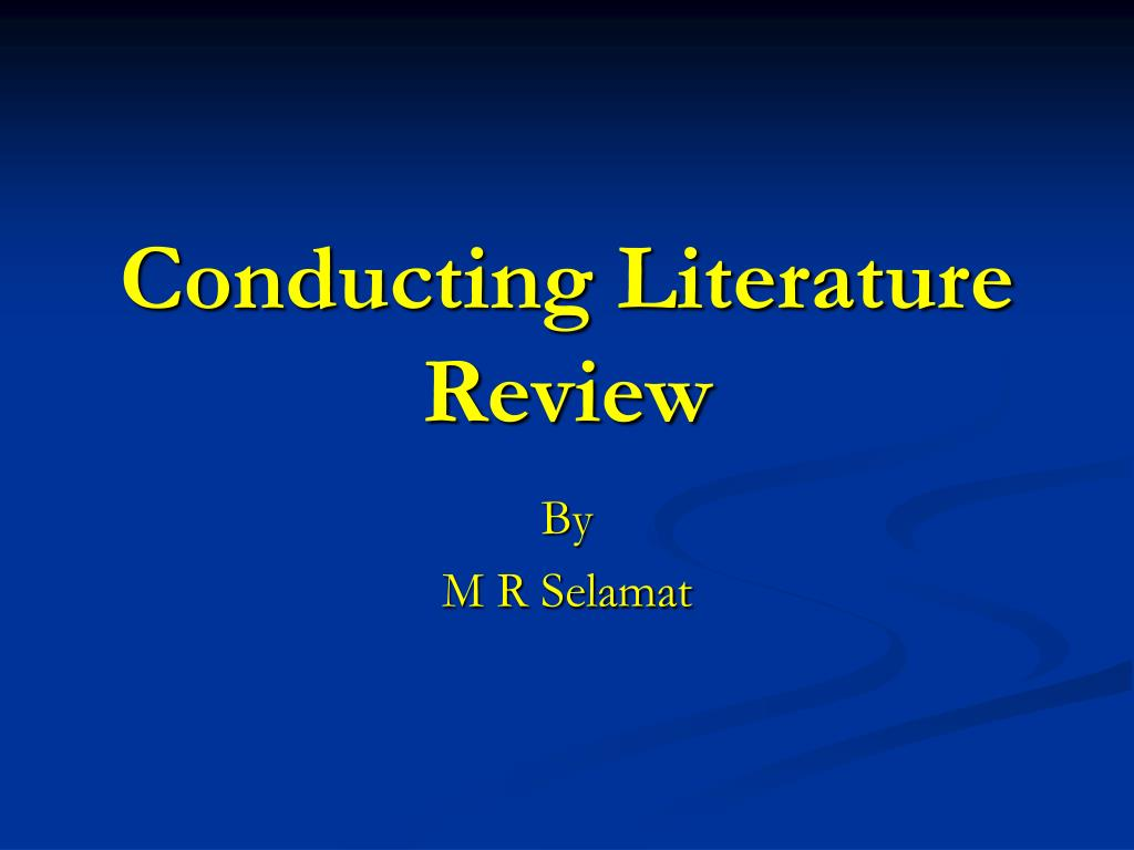 conducting literature review l.