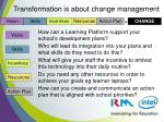 transformation is about change management
