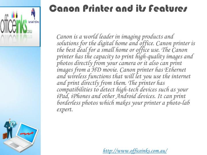 Canon printer and its features