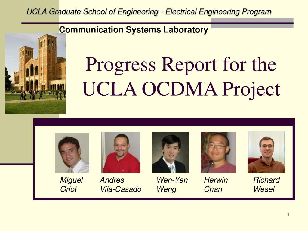 progress report for the ucla ocdma project l.