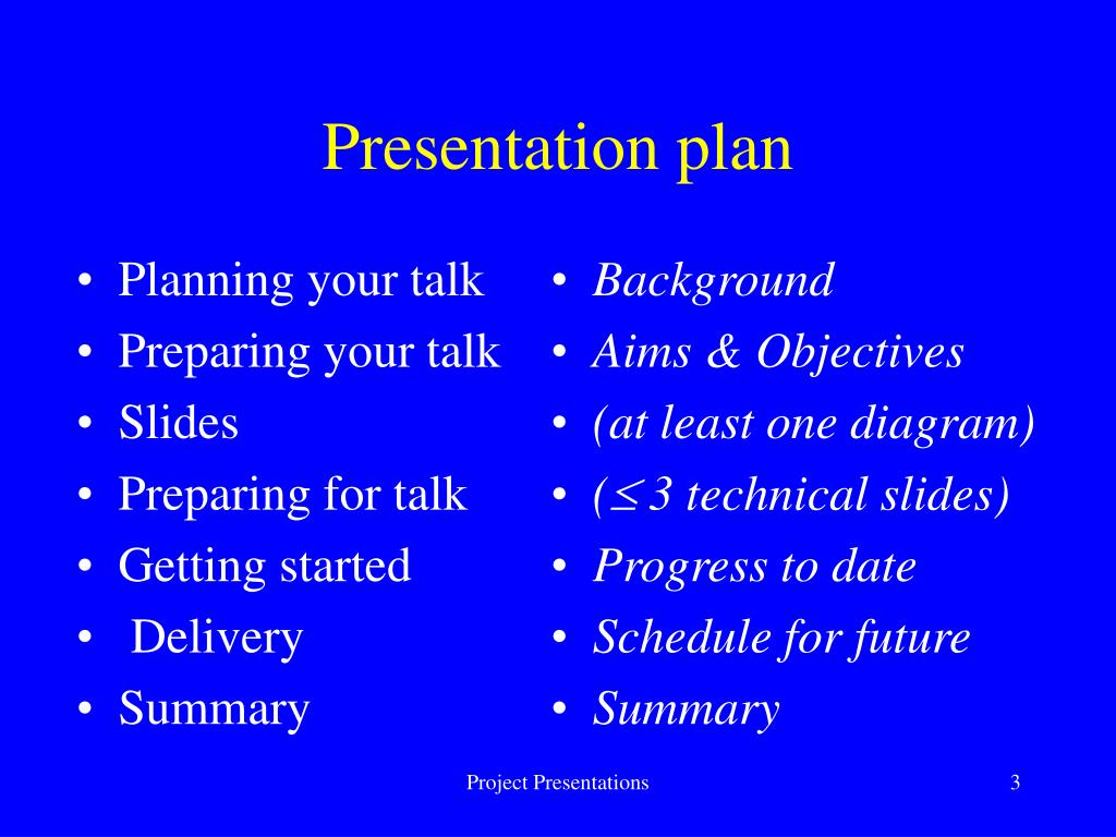 Planning your talk