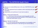 jartel the notechs health check